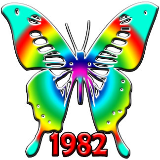 30th Birthday Gifts, 1982 Butterfly!