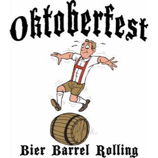 Bier Barrel Rolling Oktoberfest T-Shirt
