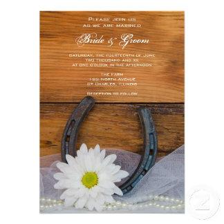 White Daisy and Horseshoe Country Wedding