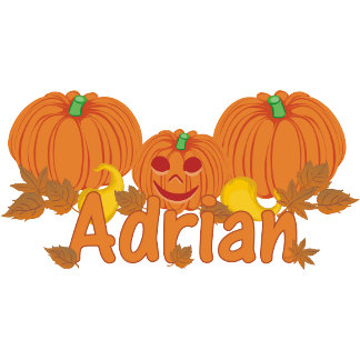 Pumpkin Adrian Personalized Halloween