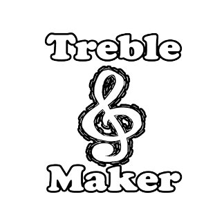 treble maker clef white blk outline music humour