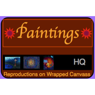 PAINTINGS on WRAPPED CANVASS