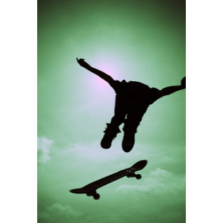 """Person Skateboarding Photo Poster Print"""