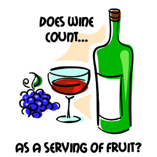 Does wine count as a serving of fruit?