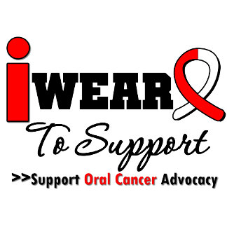 I Wear a Ribbon Oral Cancer Shirts (Aunt to Wife)