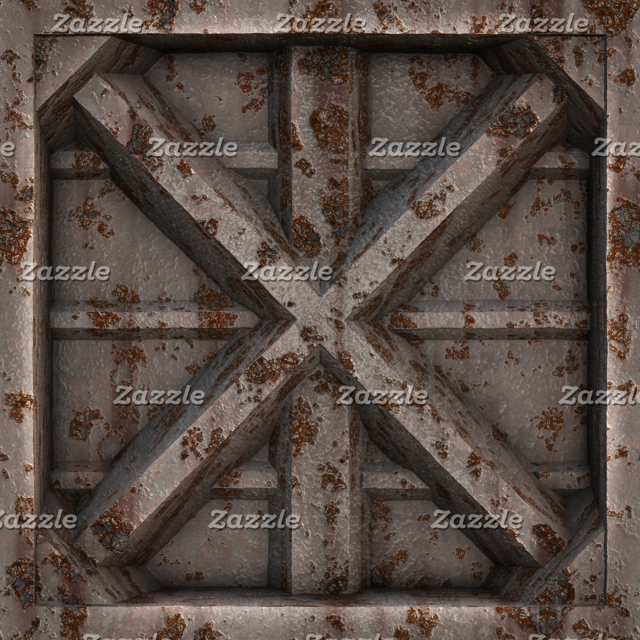 Rusty shipping containers