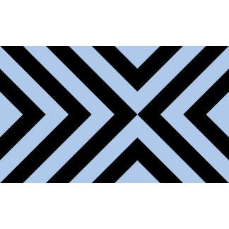 Light Blue and Black Chevrons