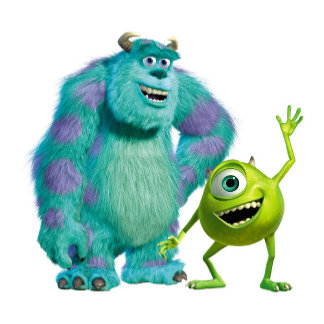 Classic Mike & Sully Waving