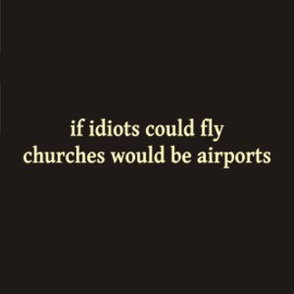 If idiots could fly, churches would be airports.