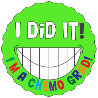 Chemo Grad I Did It Smiley Face - Lymphoma