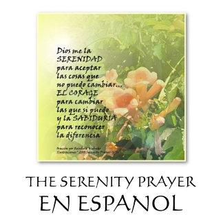 LA ORACION DE LA SERENIDAD EN ESPANOL