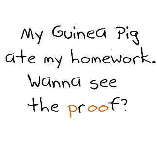 My Guinea Pig ate my homework! text only