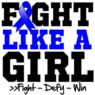 Colon Cancer Sporty Fight Like a Girl
