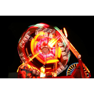 Fair Ride Spinning Colours Red yellow fireball