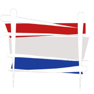 Netherlands Brush Flags - white strokes