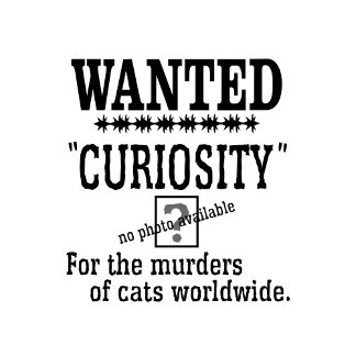 Curiosity Killed the Cat Wanted Poster