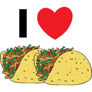 I Love Tacos T-Shirt Gift Cards