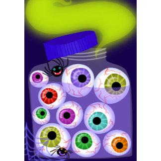 Halloween Bottle of Eye Balls