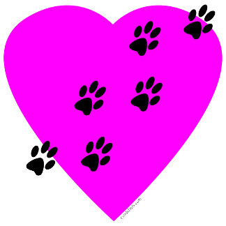 Paw Prints on my Heart - Pink