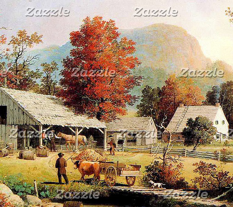 Country Farms Paintings