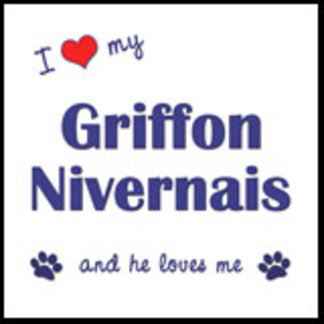 I Love My Griffon Nivernais (Male Dog)