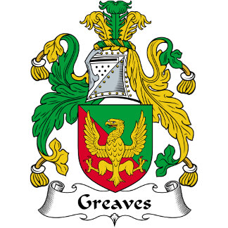 Greaves Family Crest / Coat of Arms