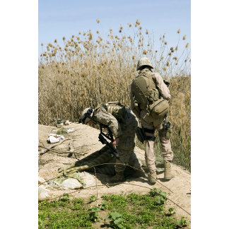 Marines search for weapons caches