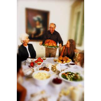 portrait of an elderly man holding a roast