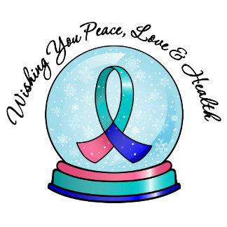 Thyroid Cancer Merry Christmas Snowglobe