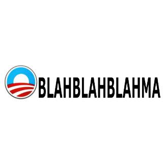 Anti Obama bumper stickers,blah blah blah
