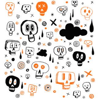 Halloween Skeleton Skulls Pattern