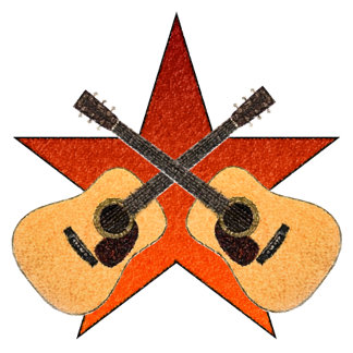 """ACOUSTIC GUITAR """"STAR"""" T-Shirts"""