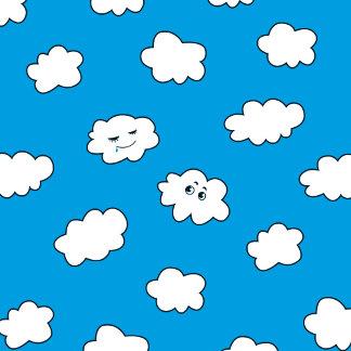 Blue Sky Cute Cartoon Clouds