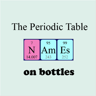 periodic table bottles