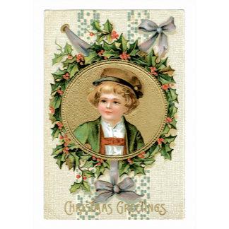 Christmas Greetings Cute Boy