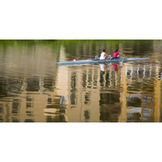Italy, Florence, Rowing Sculls with 2