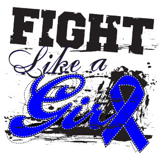 Fight Like a Girl Spray Paint - Colon Cancer