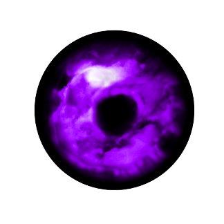 Purple cloudy eye graphic