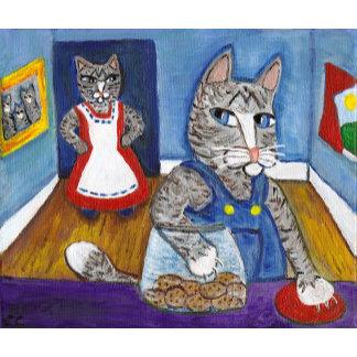Cat Stealing Cookies