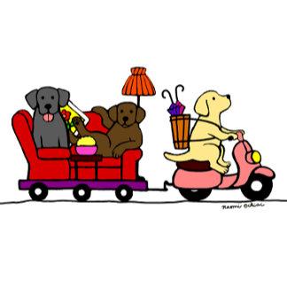 Moving Labradors