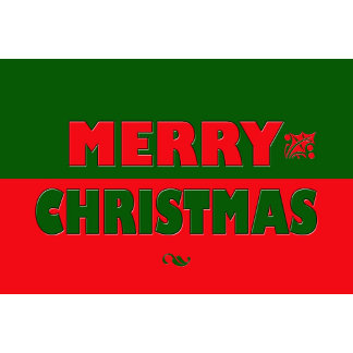 Merry Christmas in Red and Green