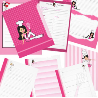 Recipe Pages Sheets and Planners for Binders