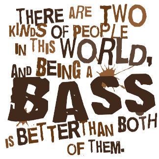 Two People Bass T Shirts