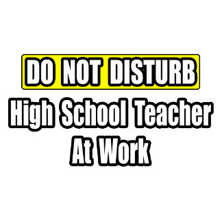Do Not Disturb...High School Teacher At Work