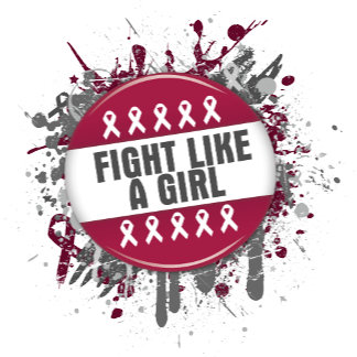 Fight Like a Girl Cool Button - Multiple Myeloma