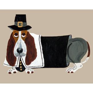 Basset Hound Thanksgiving Pilgrim