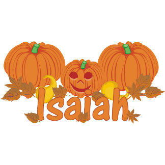 Pumpkin Isaiah Personalized Halloween