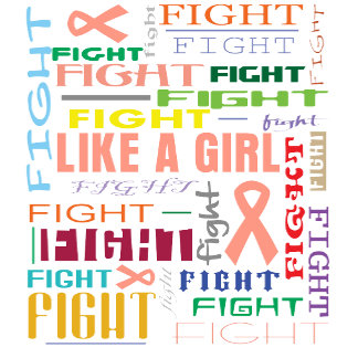 Endometrial Cancer Fight Like a Girl Collage