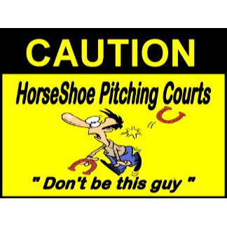HorseShoe Pitching Yard Signs