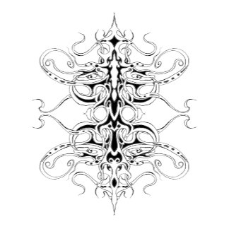 Empire Tribal Tattoo - White
